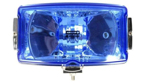 2x faros a distancia faros 220x123x120 12v 24v azul cromo halógenas e20 set