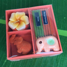 NAG CHAMPA BOX SET ELEPHANT HERBAL INCENSE AROMA CANDLE ODOR RELAX  JOSS STICK