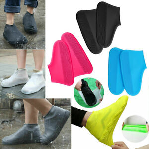Rain Shoes Covers Reusable Waterproof Rain Boots Non-slip Washable UK SALE