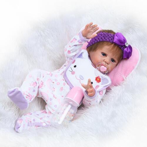 "22/"" Realistic Reborn Baby Newborn Sleeping Real Looking Baby Doll Girl Lifelike"