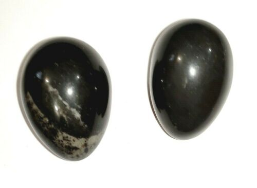 Reiki Chakra Black Tourmaline Protection Egg Yoni 2 Inches Positive Aura Energy