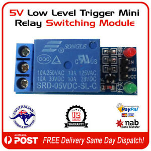 5V-Low-Level-Trigger-Mini-Relay-Switching-Module-FREE-POST-AUSTRALIA