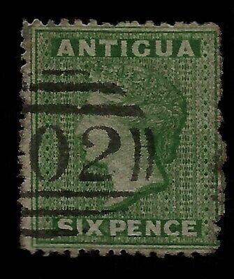 1863 British Antigua Queen Victoria Six Pence Old Stamp Guaranteed To Be Genuine Einen Effekt In Richtung Klare Sicht Erzeugen