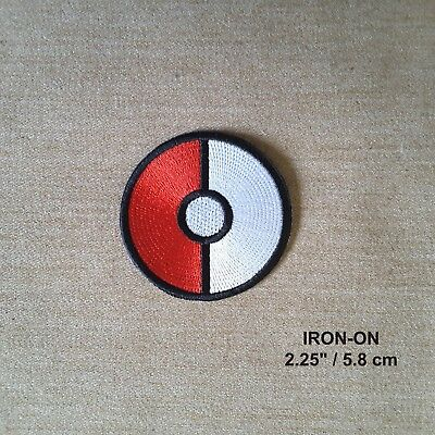 Sew On Patch Pokeball Pokemon Game logo Embroidered Iron On