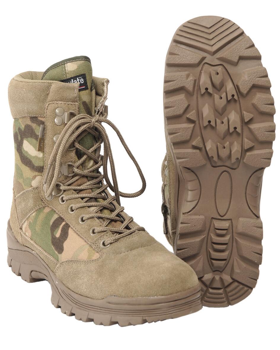 Mil-Tec Tactical Schuhe Stiefel mit YKK Reißverschluss Schuhe Tactical Lederstiefel Stiefel 38-48 d4484d