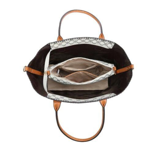 Womens Faux Leather Designer Inspired Checked Shoulder Bag Tote Fashion Handbag