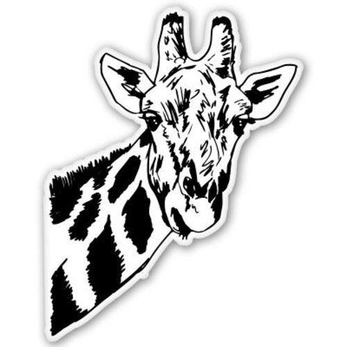 SELECT SIZE Giraffe Car Vinyl Sticker