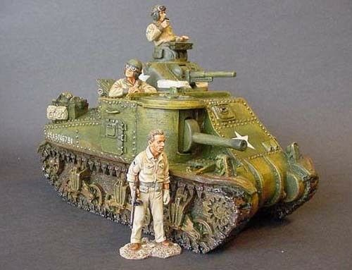 King & Country DD024 M3 General Lee Tank med befälhavare, Gunner &Radio Operator