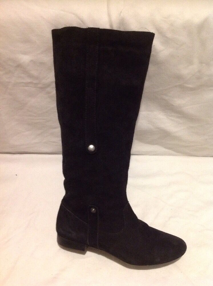 Kaleidoscope Black Knee High Suede Boots Size 4