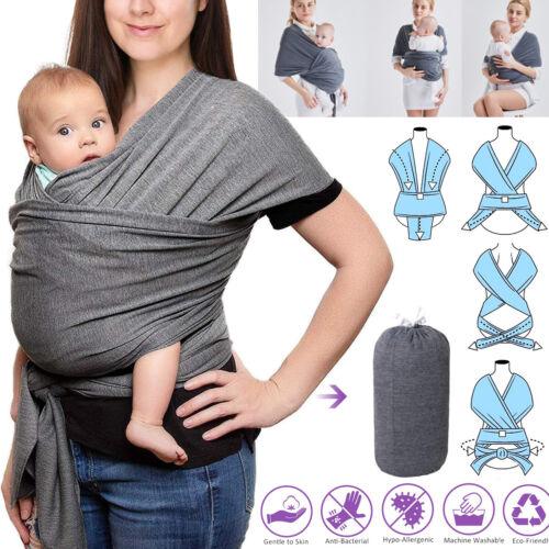 5M Tragetuch Babytragetuch Bauchtrage Babytrage Baby Kinder bis 22kg Baumwolle