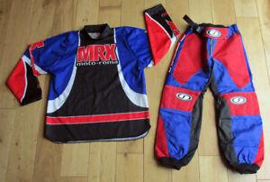 Kids-Childrens-Motocross-Barrus-Spirit-MX-26-Pants-XS-Shirt-Set-Blue-Red-T