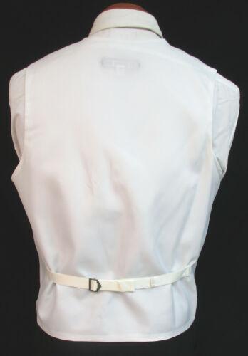 Men/'s White Jean Yves Tuxedo Vest /& Paisley Tie Formal Wedding Cruise Mason Prom