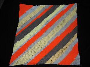 Main-Knitted-Crochet-Colore-Couverture-Bebe-Moise-Panier-Landau-Genou-75x75cm