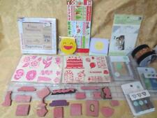 New Boxed Lot Paper Pads 42 Rubber Stamps 6 Embossing Powders Martha Stewart -j3