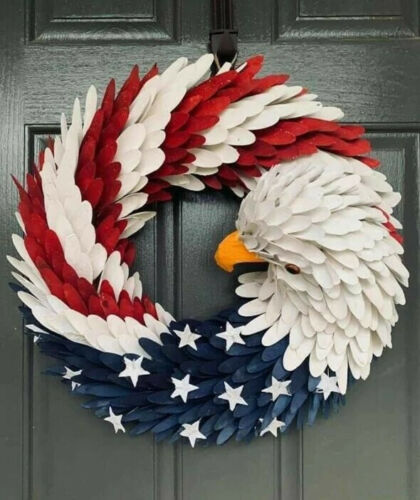 American Eagle Wreath Patriotic Wreath for Front Door Election Vote President
