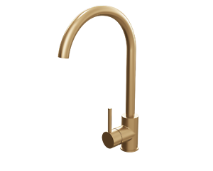 Brushed Gold Single Lever Kitchen Mixer Tap Faucet Basin Sink Swivel Spout