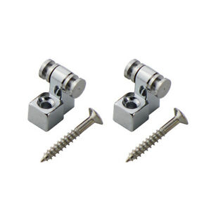 2pcs chrome electric guitar string retainers roller string trees guide metal 714131308255 ebay. Black Bedroom Furniture Sets. Home Design Ideas