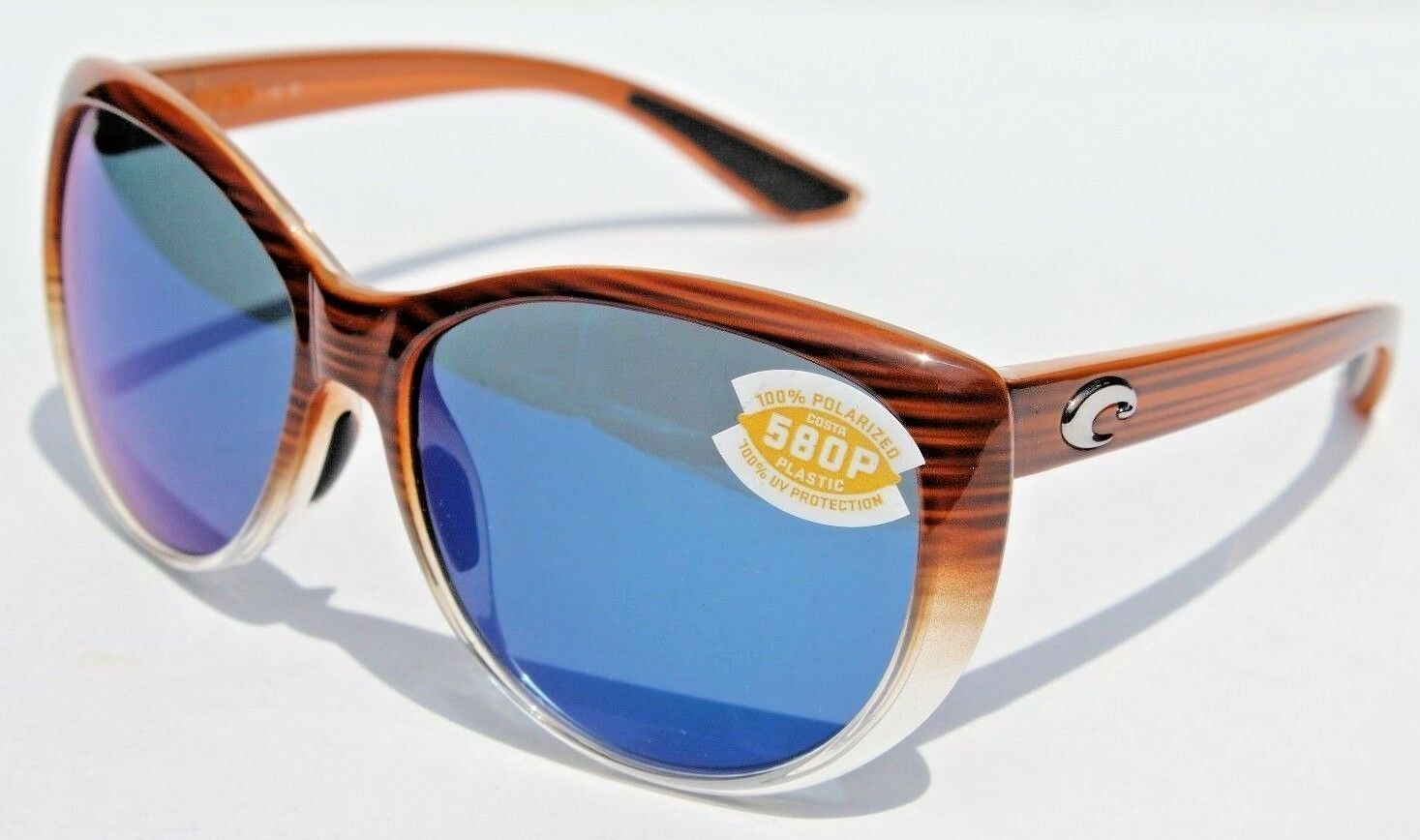 bd4d0f78a9c44 Costa Polarized La Mar Wood Fade Frame Blue Mirror 580p Plastic LM ...