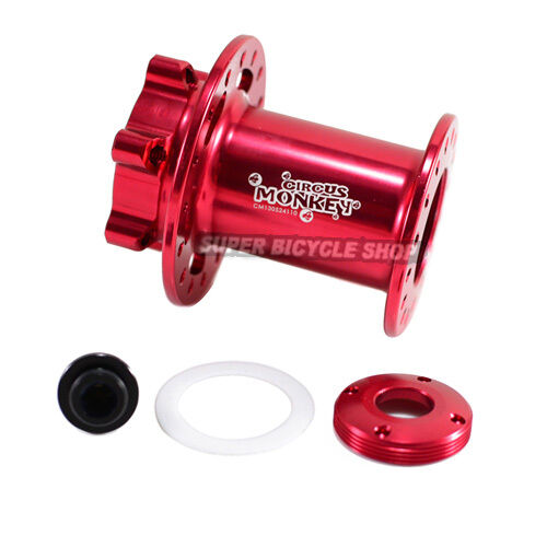 Circus Monkey Disc CNC Lefty  Front Hub For Cannondale,24 Hole,Red