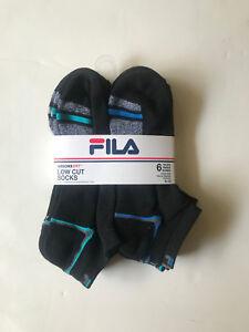 New-Fila-Men-s-6-Pairs-Absorb-Dry-Low-Cut-Socks-Sport-Gym-Athletic