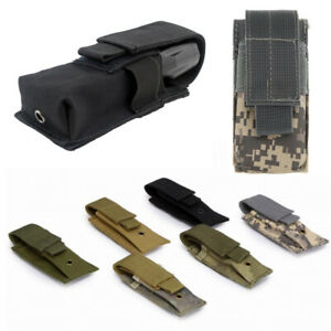 Outdoor 9MM Magazine Pouch Close Holster Tactical Molle Single Pistol Mag Bags