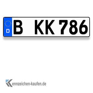 1 kfz kennzeichen eurovariante in der gr e 460 mm x 110 mm ebay