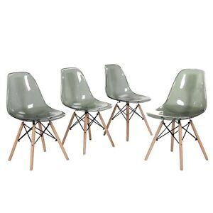 Lot-de-4-chaises-design-tendance-retro-bois-chaise-de-salle-a-manger-Gris-fume