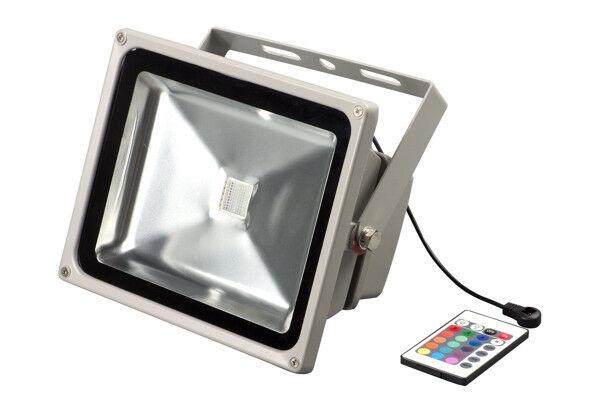 LED Outdoor Flood 60W RGB LED Fluter IP65 inkl. Fernbedienung Memory Fuktion NEU
