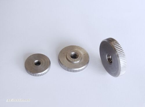 5stk rändelmuttern faible forme DIN 467 a1 Acier Inoxydable va m3 m4 m5 m6 m8 m10