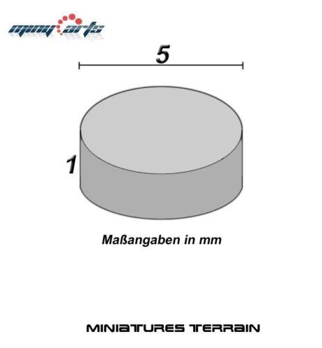 10 Neodym Magnete rund Ø 5 x 1 mm Super für Modellbau Mini Permanentmagnete