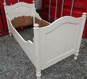 antikes bett shabby chic einzelbett bettgestell ebay. Black Bedroom Furniture Sets. Home Design Ideas