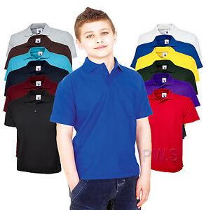 Uneek-childrens-polo-shirt-kids-school-TOP-PE-a-col-neuve-unisexe-garcons-filles-uc103