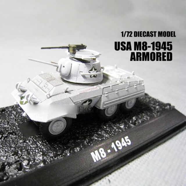 WWII USA M8-1945 Armored 1/72 Diecast Model Finished Tank Amer