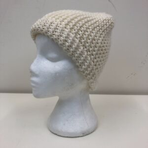257e9880ff496 H M Ladies Beige Thick Chunky Knitted Warm Wooly Knitted Beanie Hat ...
