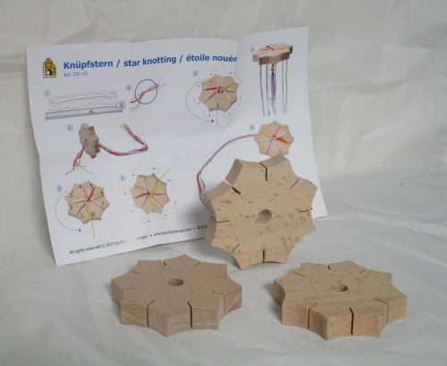 Knüpfstern Holz Flechtstern in Kindergarten Hohe Qualität  12 Stück   02-370-12