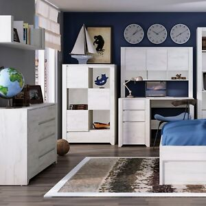 Details About Childrens Bed White Bedroom Furniture Range Sets Chests Beds Cupboards