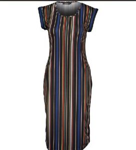 Bnwt Ayanapa Multi Coloured Maxi Dress Uk Size 16 Ebay