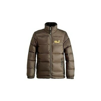 Details zu Jack Wolfskin Kinderjacke Kids Icecamp Jacket, olive brown