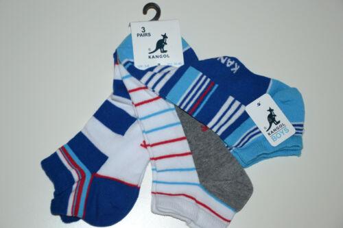 36-40 EUR 27-30 3-6 KANGOL 3 Pack BOYS SOCKS Junior Size UK 9-12