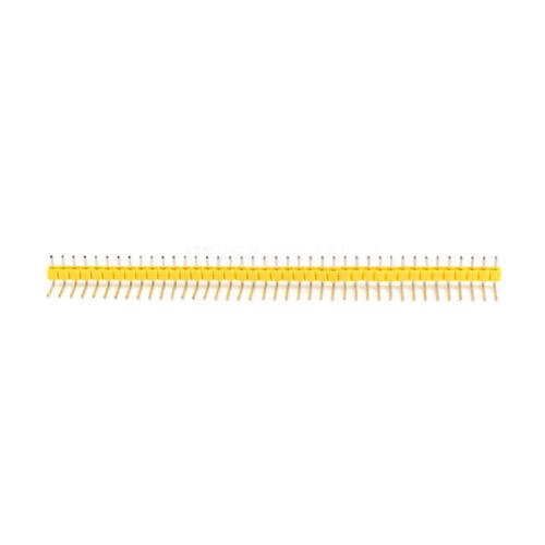 10 X 2.54mm 40 Pines Pcb Pin Macho Ángulo Recto Conector de una sola fila encabezado Tira