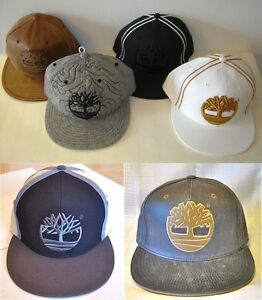 b00f8fd5 NWT Timberland Baseball Cap Hat Fitted Black White Brown Gray Ball ...