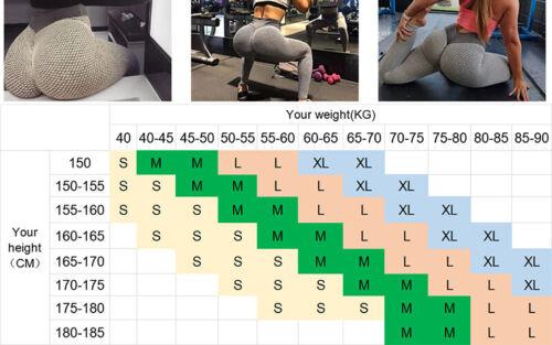 Damen Yoga Hose Sporthose Fitnesshose Push Up Leggings Gym Stretch Leggins ASA