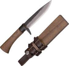 "Kanetsune KB213 Akatsuki Fixed Knife White 5"" Blade/Oak Handle"