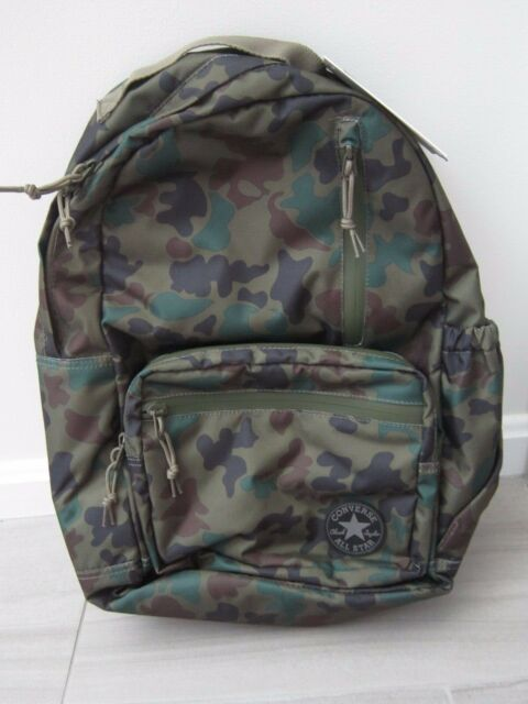 Converse Chuck Taylor All Star Go Backpack One Size Army Camo New WTags