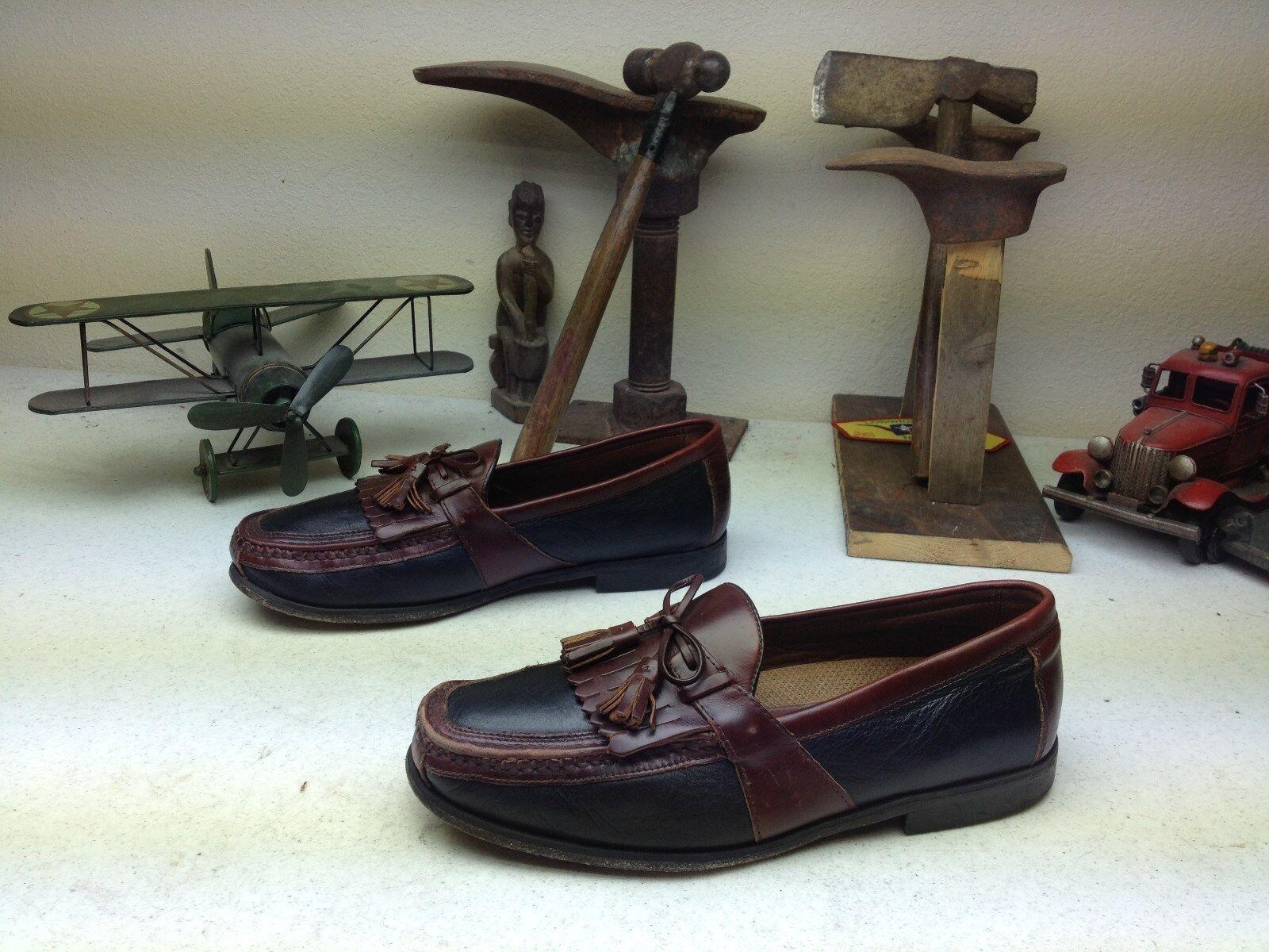 caldo JOHNSTONG & MURPHY MURPHY MURPHY SLIP ON LEATHER LOAFER TASSLE KILTIE DRIVING scarpe 10.5E  fabbrica diretta