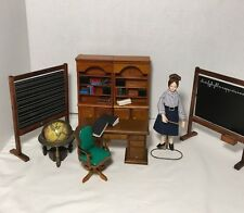 Vintage Dollhouse Furniture Lot. Chalkboards, Bookcases, Desk, Doll, Books,