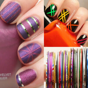 Nail Art Sticky Striping Tape Design Lines Strips Form Sticker