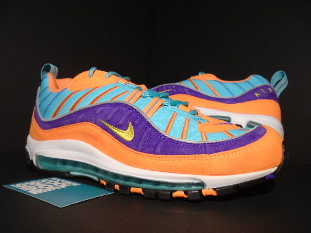 4788db4a3901c5 Nike Air Max 98 QS Cone Tour Yellow Grape Size 10 for sale online