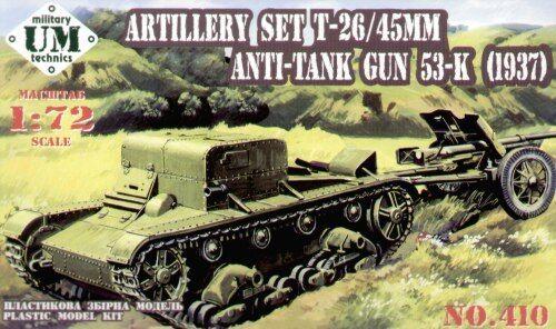 Um-Mt 1//72 T-26 45mm W//53-k zu Waffe #410