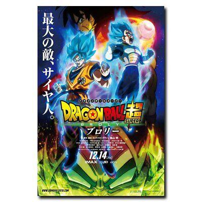 2019 Dragon Ball Super Broly 12x18 24x36inch Movie Silk Poster Art Print Hot